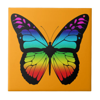 Colorful Butterfly Tile