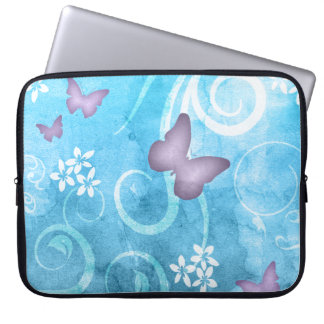 Colorful Butterfly Watercolor Painting Laptop Sleeve