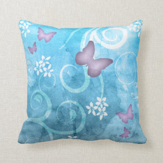 Colorful Butterfly Watercolor Painting Pillow