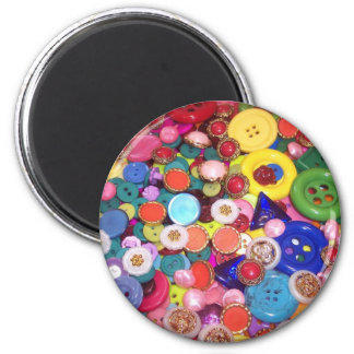 Colorful Button Collage Magnet