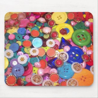 Colorful Button Collage mousepad