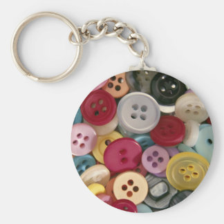 Colorful Buttons Key Chains