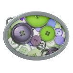 Colorful Buttons Oval Belt Buckles