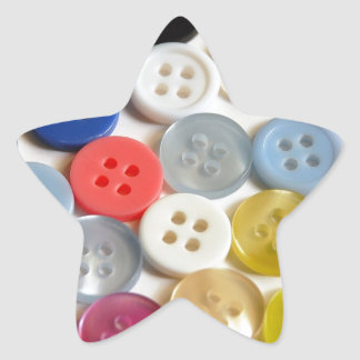 Colorful buttons pattern star sticker