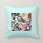 Colorful Buttons Pillow