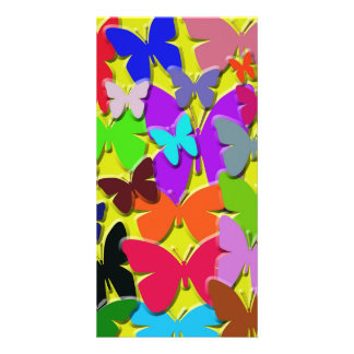 Colorful Buttterflies Photo Card