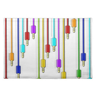 Colorful cables placemat