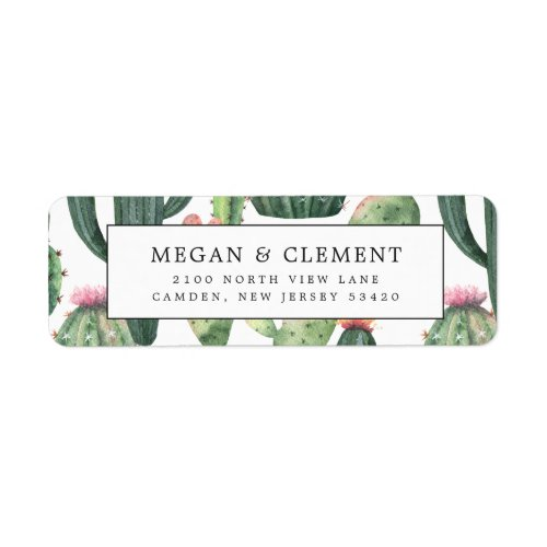 Colorful Cacti  Desert Theme Return Address Label