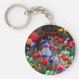 Colorful cacti keychain