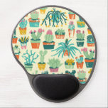 "Colorful Cactus Flower Pattern Gel Mouse Pad<br><div class=""desc"">Colorful Cactus Flower Pattern Gel Mouse Pad. Decorate your office or home with a custom contoured oval mousepad. Featuring an ergonomic gel pad wrist support and non-skid black plastic base,  this mousepad will look great with your images,  text,  or designs.</div>"