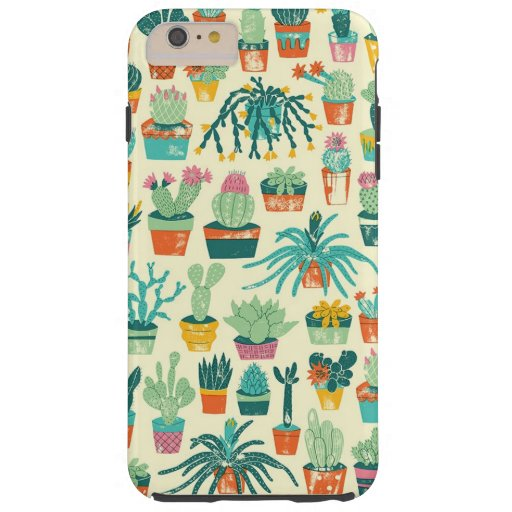 Colorful Cactus Flower Pattern iPhone 6 Plus Case