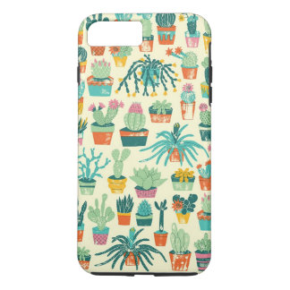 Colorful Cactus Flower Pattern iPhone 7 Plus Case