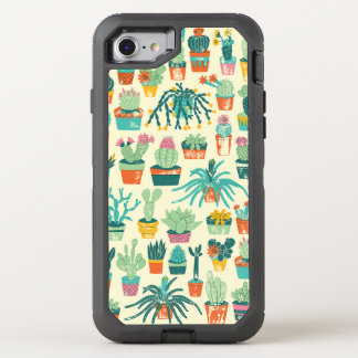 Colorful Cactus Flower Pattern OtterBox Defender iPhone 8/7 Case