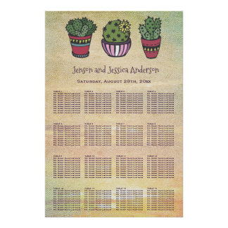 Colorful Cactus Seating Chart