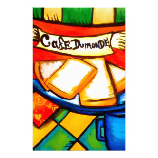 Colorful Cafe Dumonde Stationery