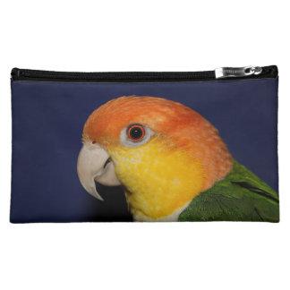 Colorful Caique Parrot Cosmetic Bag