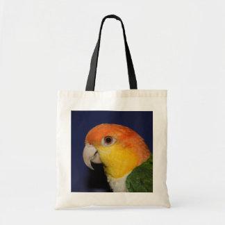 Colorful Caique Parrot Canvas Bags
