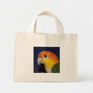 Colorful Caique Parrot Tote Bags