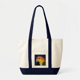 Colorful Caique Parrot Canvas Bag