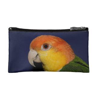 Colorful Caique Parrot Cosmetics Bags