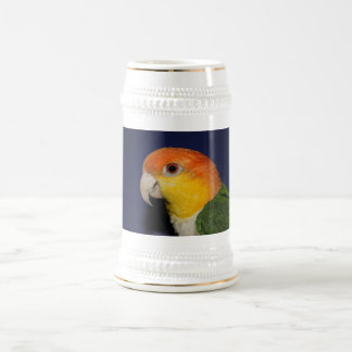 Colorful Caique Parrot Beer Stein