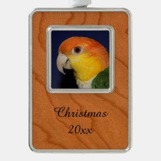 Colorful Caique Parrot Christmas Ornament