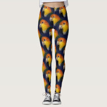 Colorful Caique Parrot Leggings