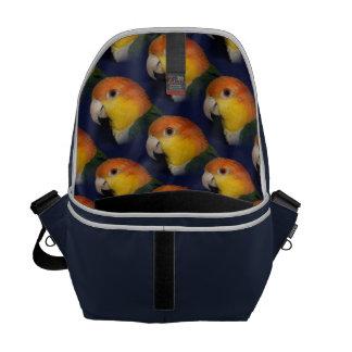 Colorful Caique Parrot Messenger Bag