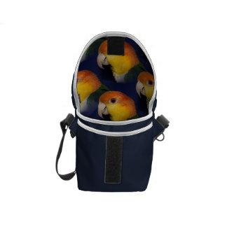Colorful Caique Parrot Messenger Bags