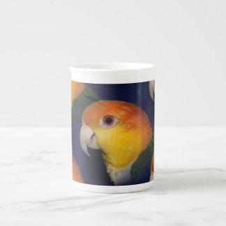 Colorful Caique Parrot Tea Cup