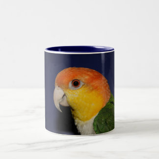 Colorful Caique Parrot Two-Tone Coffee Mug