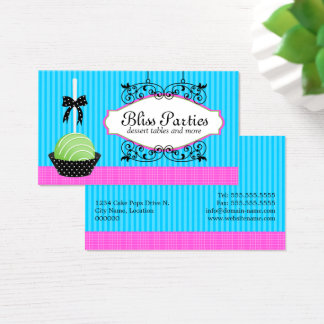 Colorful Cake Pops Desserts Business Card