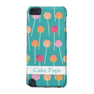 Colorful Cake Pops on Teal Pattern iPod Touch (5th Generation) Cover