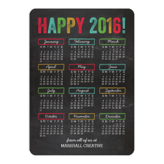 Colorful Calendar Business Holiday Cards