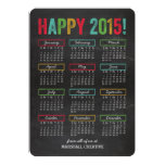 Colorful Calendar Business Holiday Cards Personalized Invites