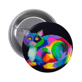 Colorful Calico 2 Inch Round Button
