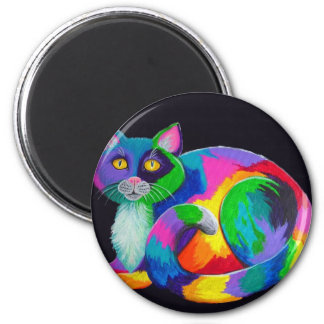 Colorful Calico 2 Inch Round Magnet