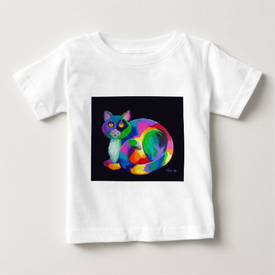 Colorful Calico Baby T-Shirt