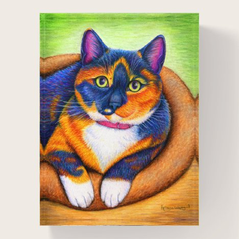 Colorful Calico Cat Paperweight