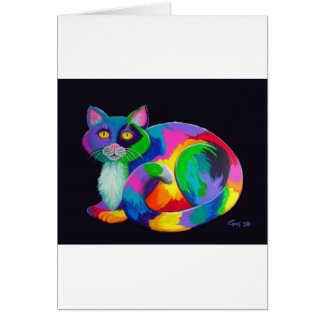 Colorful Calico Greeting Card