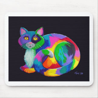 Colorful Calico Mouse Pad