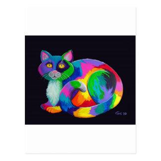 Colorful Calico Postcard