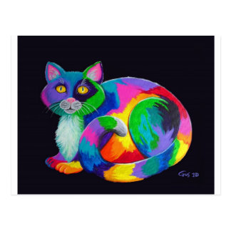 Colorful Calico Postcard