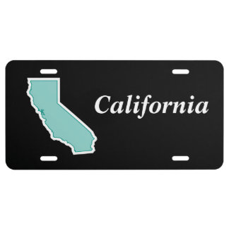 Colorful CALIFORNIA Outline Map License Plate
