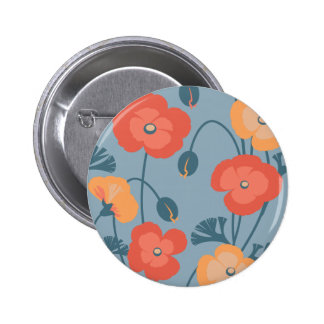 Colorful California Poppy Pattern Pins