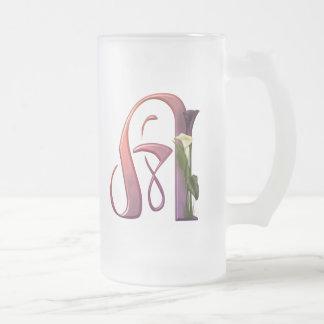 Colorful Calla Initial A Mug
