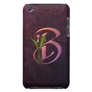 Colorful Calla Initial B Barely There iPod Cases