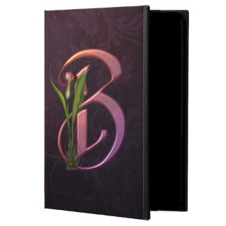 Colorful Calla Initial B Case For iPad Air