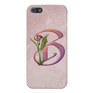 Colorful Calla Initial B Case For iPhone SE/5/5s