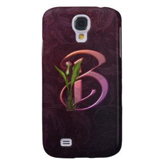 Colorful Calla Initial B Galaxy S4 Cases